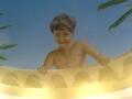 Deckenmalerei Junge an der Mauer