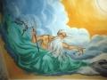 Deckenmalerei mit Neptun und Dreizack
