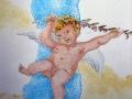 Deckenmalerei Engel mit Ölbaumzweig
