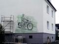 Fassadenmalerei Oldtimer Motorrad