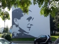 Fassadenmalerei und Portraitmalerei Pina Bausch