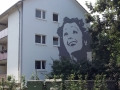 Fassadenmalerei  und Portraitmalerei Edith Piaf