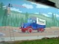 Fassadenmalerei Alter LKW