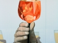Wandbild mit Aperol im Glas