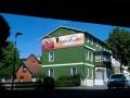 Fassadenmalerei mit Schriftenmalerei der Bavaria Alm