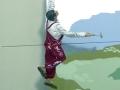 Fassadenmalerei mit Handwerker am Nagel