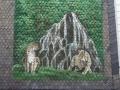 Tier und Jagdmalerei mit Luxpärchen am Wasserfall