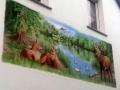 Jagdmalerei Hirsch und Rehe
