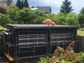 bemalter VW Käfer auf dem Dach
