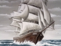 Segelschiff im Sturm
