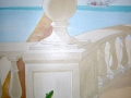 Wandmalerei Balustrade in der Karibik