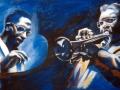 Jazzmusiker Portraitmalerei