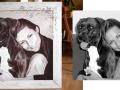 Portrait Frau mit ihrem Hund