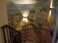 Wandbemalung bunte Favelahäuser in Rio