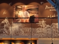 Bemalte Wandfläche mit Motiv aus der Landwirtschaft