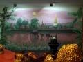 Wandmalerei Fluss in Thailand