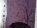Wandmalerei mit Fee auf Schaukel