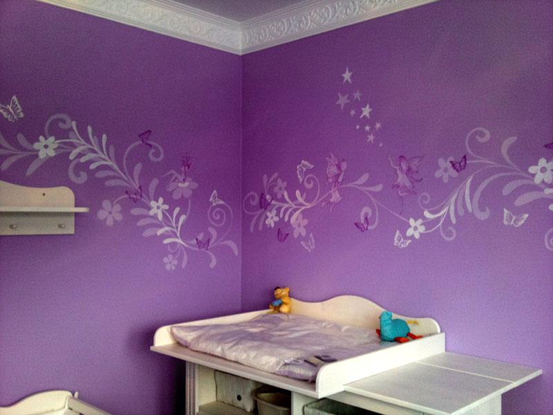 Kinderzimmer wandgestaltung feen for Wandbemalung schlafzimmer
