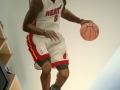 Wandmalerei mit Basketballer