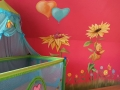 wandmalerei winnie pooh ferkelchen sonnenblumen