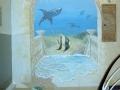Tier und Jagdmalerei mit Illusionsmalerei versunkene Stadt