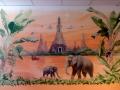 Tier und Jagdmalerei mit Elefanten