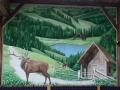 Tier und Jagdmalerei mit Röhrender Hirsch