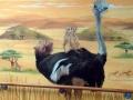 Tier und Jagdmalerei mit Strauß