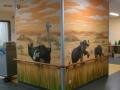 Tier und Jagdmalerei mit Vogel Strauß