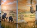 Tier und Jagdmalerei mit Elefantenfußball