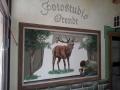 Wandmalerei, Tier und Jagdmalerei mit Hirsch in Pose