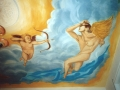 Deckenmalerei mit Amor