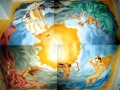 Deckengemälde mit Neptun, Amor, Justitia und Viermaster auf hoher See