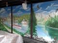Wandmalerei mit deutschen Landschaften