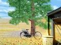 Fassadenmalerei Eichenbaum