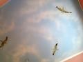 Deckenmalerei mit Wolkenhimmel und Möwen