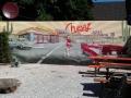 Fassadenmalerei American Diner und Chevy im Retro Style