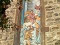 Fassadenmalerei und Portraitmalerei mit Papst und Kaiser Karl