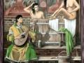 Lüftlmalerei und Portraitmalerei mit nackten Menschen im Biersud
