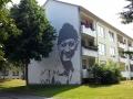 Fassadenmalerei  und Portraitmalerei Jaques Cousteau