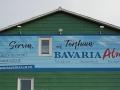 Fassadenmalerei mit Schriftenmalerei Bavaria Alm Werbung