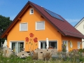 Fassadenmalerei mit großen Mohnblumen