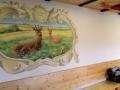 Tier und Jagdmalerei mit Rehen und Widschweinen