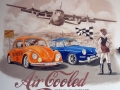 wandmalerei mit Air Cooled VW Modellen