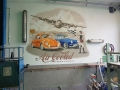 wandmalerei mit Air Cooled Autos