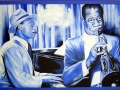 Earl Hines und Louis Armstrong Portraitmalerei