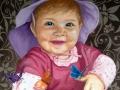 Portraitmalerei Kleinkind auf Leinwand
