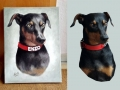 Portraitmalerei, Tier und Jagdmalerei mittelgroßer Hund