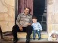 Portraitmalerei Opa mit Enkel