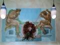Wandmalerei mit Ignudis nach Michelangelo